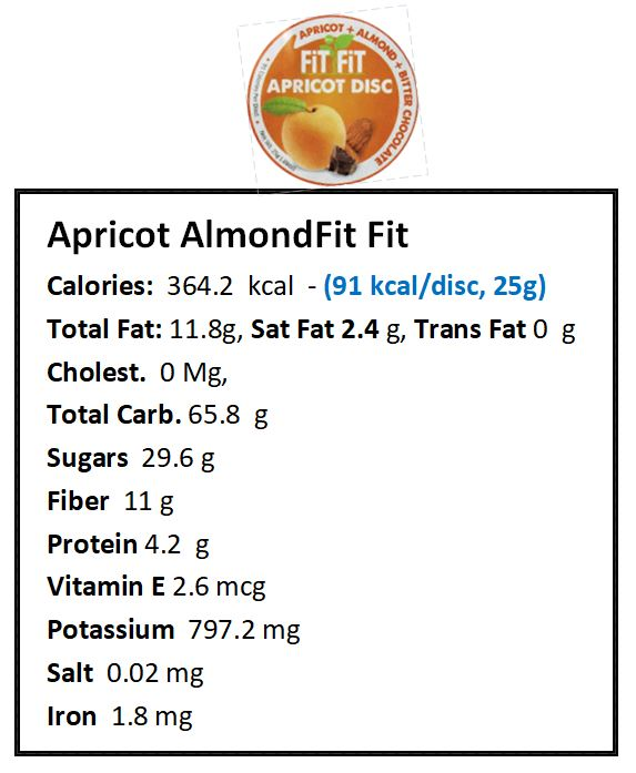 Apricot Almond nutrition facts