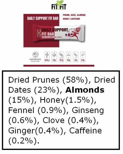 Daily Support Bar ingredients