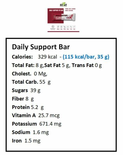 Daily Support nutrition facts