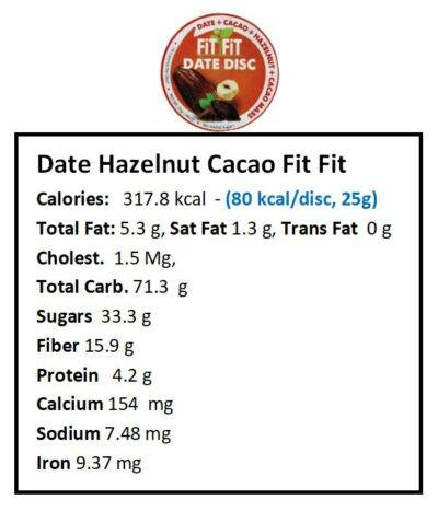 Date Cacao fit fit nutrition facts