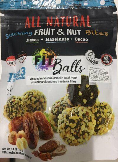 Date Hazelnut Cacao Fitball
