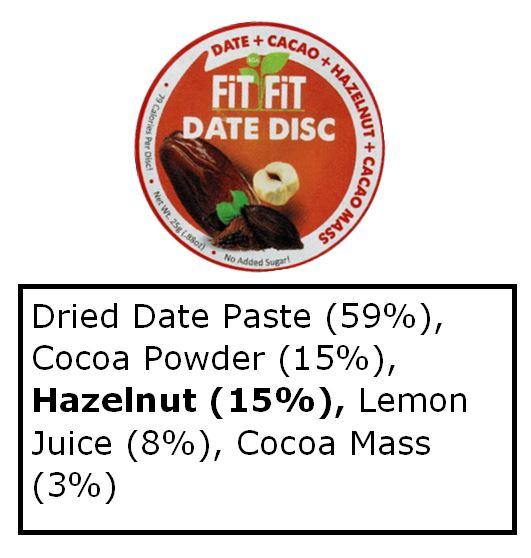 Date fit fit ingredients