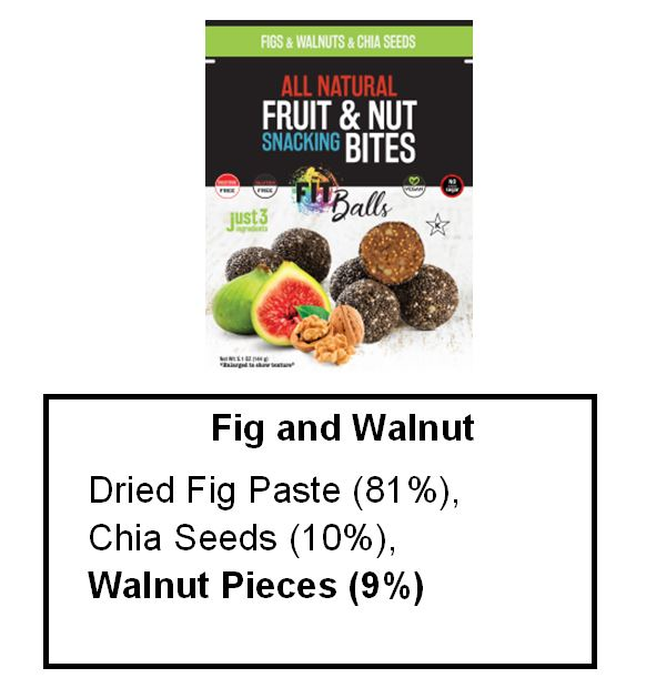Fig Walnut and Chia Seed Fitball ingredients