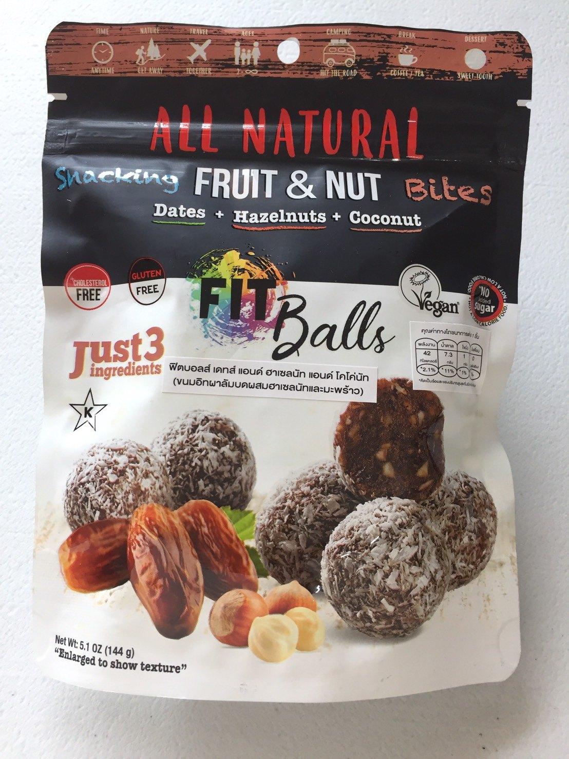 Fitball Dates เฮเซลนัทมะพร้าว