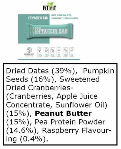 Protein Bar ingredients